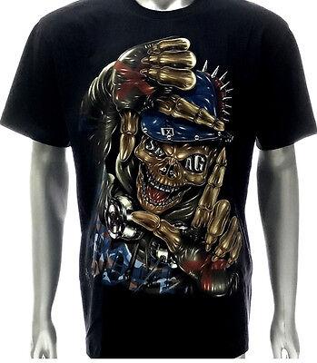 FATAL CLOTHING CALI GHOST SKULL FLEECE SWEATSHIRT T SHIRT GOTH TATTOO PUNK