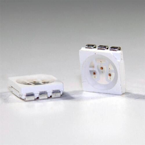 100 LED SMD 5050 GIALLO 3-Chip SOP 6 HIGHPOWER Giallo Yellow Giallo Geel LED SMDs