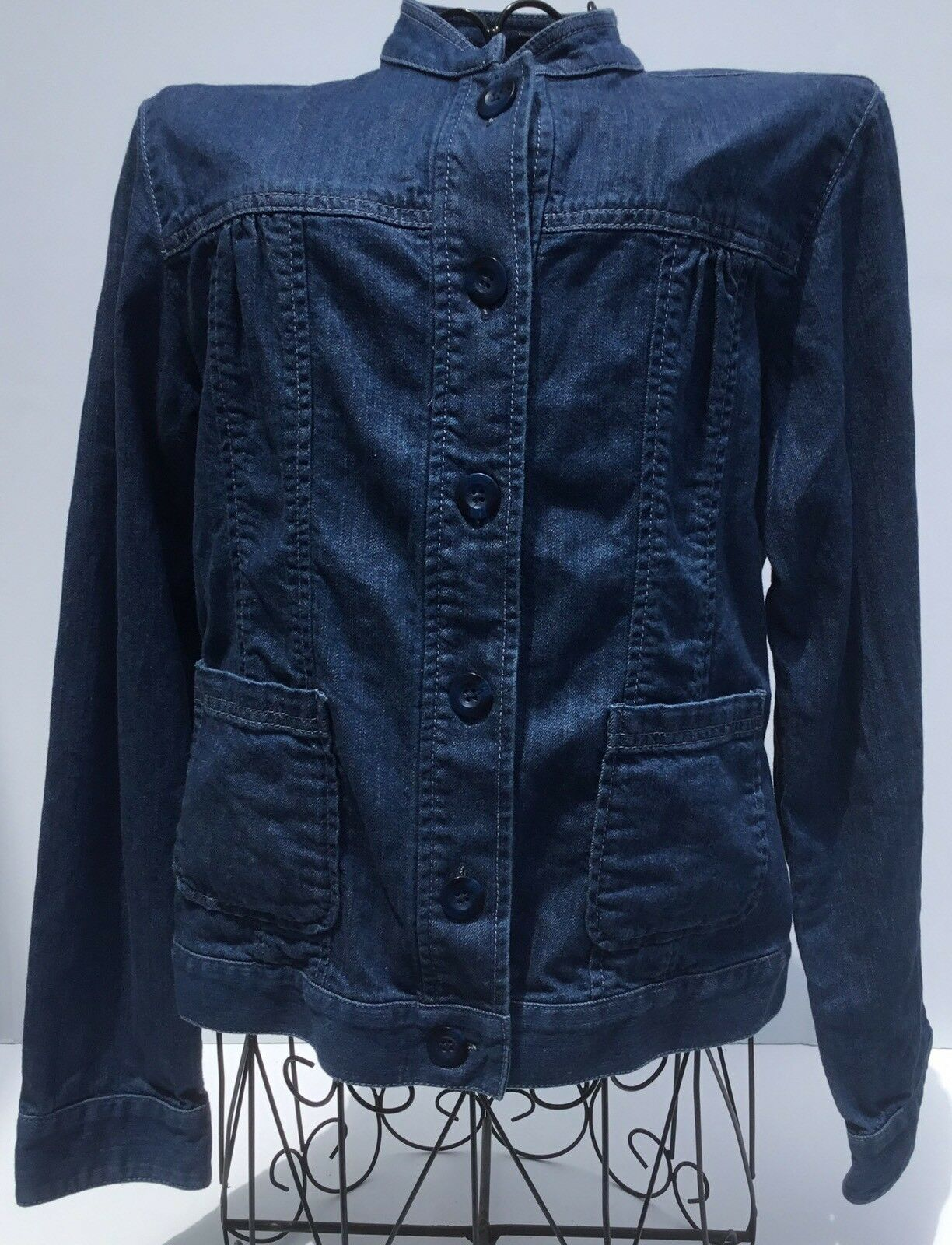 PENDLETON Women's Denim Jean Button Down bluee Shirt Size Small