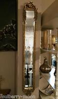 Slimline Gold Rose Ornate Wall Mirror Shabby Chic Antique Narrow Hallway Mirror