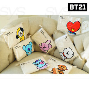 BTS-BT21-Official-Authentic-Goods-PVC-Slim-Pouch-7Characters-By-Kumhong-Fancy