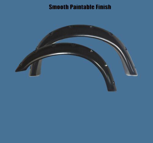 Paintable Black 92-96 Ford Bronco Pocket Rivet Fender Flares Smooth Bolt On Set