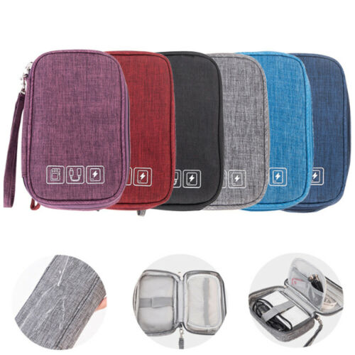 Wires Case Zipper Charger Pouch Storage Bag Earphone Pocket Cable Organizer