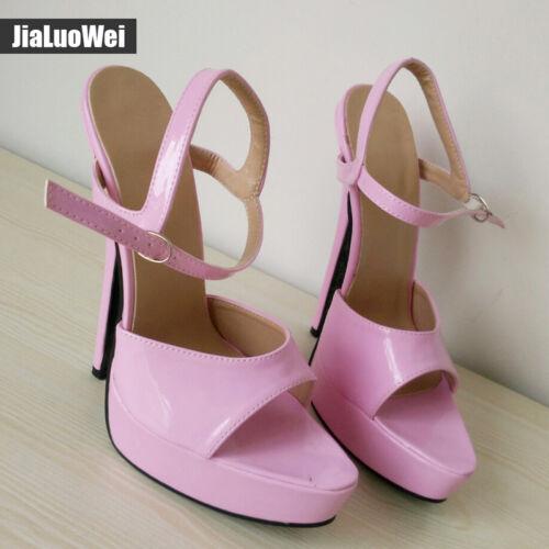 Women Platform Stiletto 18cm High Heels Belt Buckle Peep Toe Shoes Sandals HOT