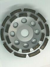 5 Double Row Concrete Diamond Grinding Cup Wheel 20 Segments 78 Arbor