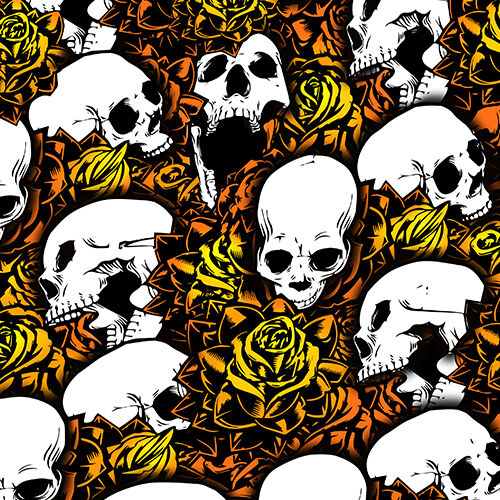 NEW Set of 3 Orange Skull Shock Covers Bombardier Can Am DS 450 650 ATV