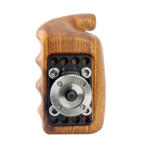 US-NICEYRIG-Wooden-Handle-Grip-with-ARRI-Rosette-for-Sony-Nikon-Canon-Cage