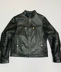 leather jacket mens hugo boss