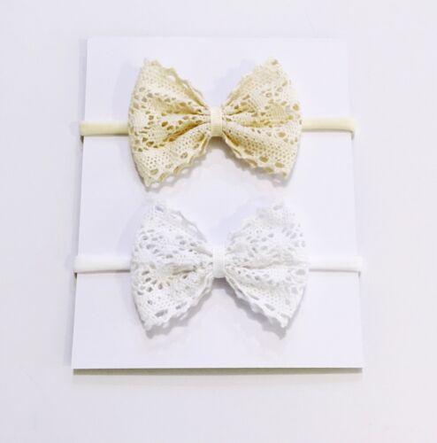 Newborn Bow Headband Baby  Bow Headband  Cotton Lace Headband