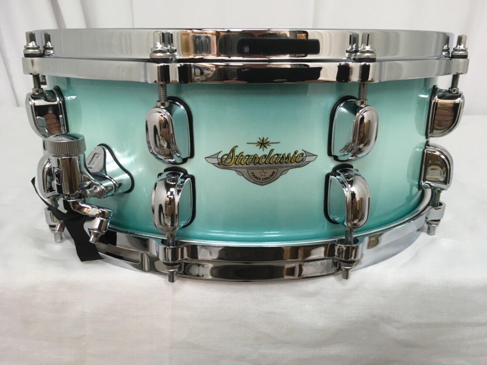 Tama Starclassic Maple 14  Dia. X 5.5  Snare Drum Light Jade Burst MAS1455-LJB