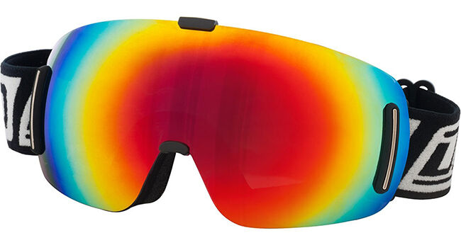 DIRTY DOG BLIZZARD FRAMELESS GOGGLES ADULT UNISEX SKI SNOWBOARD RED FUSION LENS