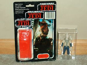 Vintage-Star-Wars-1985-RARE-YAK-FACE-AFA-UKG-U90-WITH-TRI-LOGO-CARD-BACK-and-BUB