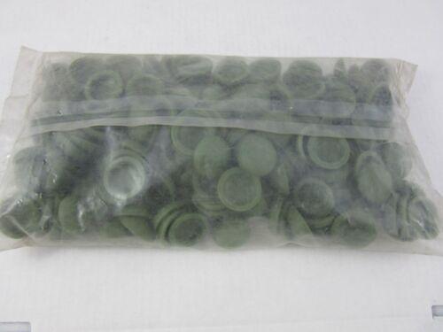 200 x Abdeckkappen Plattkopfkappen für Schrauben 16 x 5 mm Farbe Jägergrün