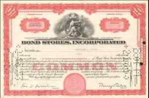 Bond-Stores-gt-lot-of-2-stock-certificates-gt-DC-Maryland