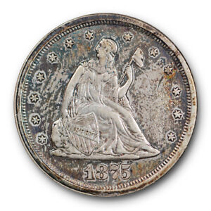 1875-S-Twenty-Cent-Piece-About-Uncirculated-to-Mint-State-Type-Coin-2724