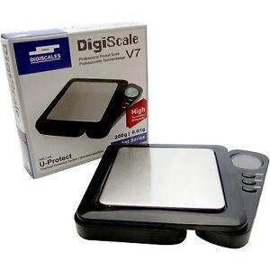 DigiScale-V7-Taschenwaage-200-g-0-01-g-Goldwaage-Feinwaage-Waage-Digitalwaage