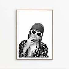 Kurt Cobain Music Star Art Poster Print Great Vanity Decor A3 A2 A1 Sizes