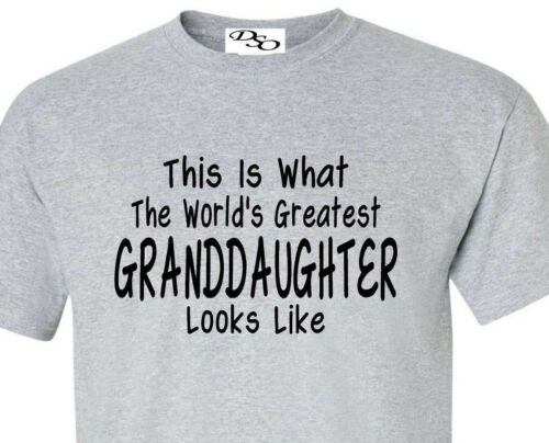 Worlds Greatest Granddaughter T Shirt Mothers Day Gift 6X 16 Colors Size SM