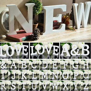 Wooden-Letters-White-Wood-Letter-Name-Alphabet-Party-Wedding-Birthday-Home-Decor