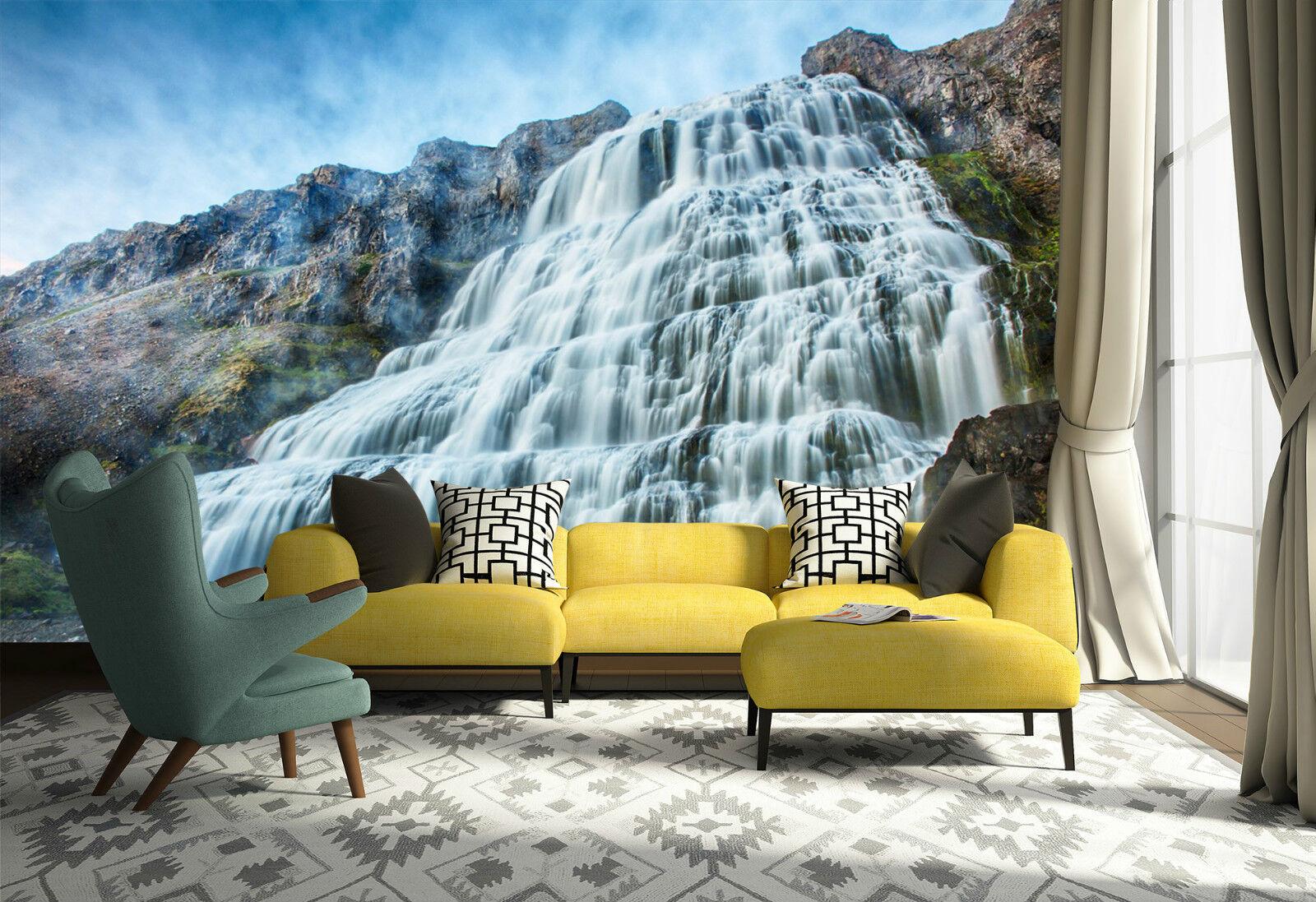 3D Cascate 717 Parete Murale Foto Carta da parati immagine sfondo muro stampa