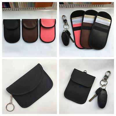 2× Car Key Signal Blocker Case Fob Keyless RFID Blocking PU Leather Bag Pouch UK