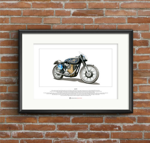 AJS 7R Limited Edition Fine Art Print A3 size