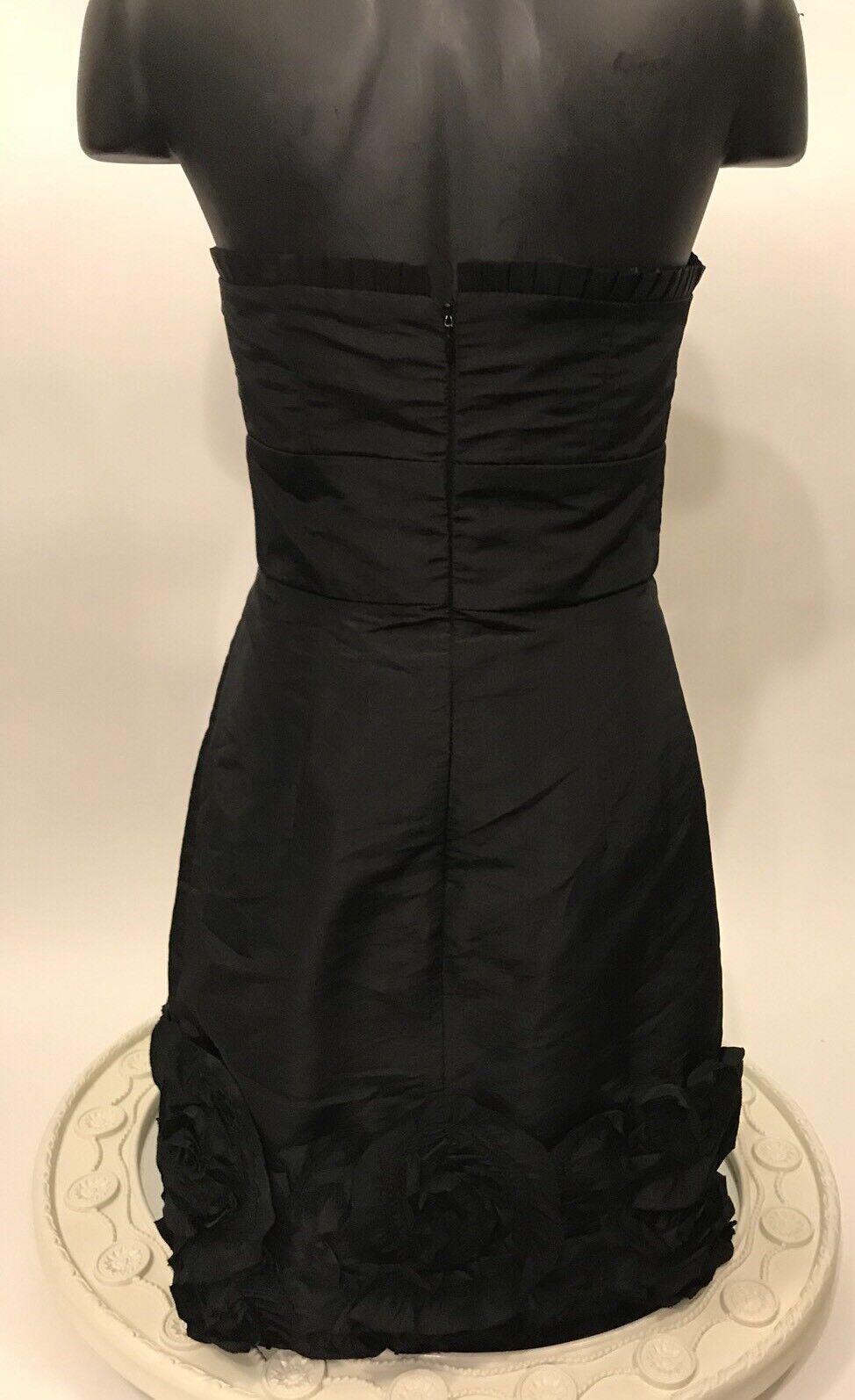Max And Cleo NWT Size 6 Little Black Dress Strapless Rosette Hem ...