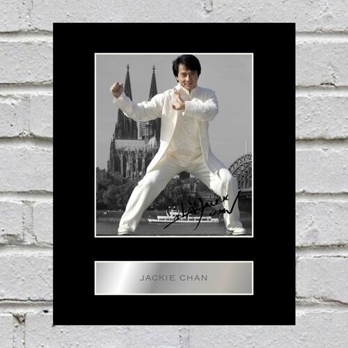 Jackie Chan Signed Photo Display