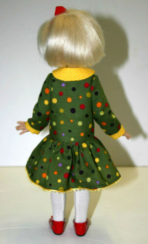 """Pleated Doll Clothes Sewing Dress Pattern 12/"""" Bethany Kish Dolls"""