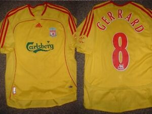 Liverpool-Adidas-Top-Shirt-Jersey-Soccer-Football-Boys-M-32-12Y-Steven-Gerrard