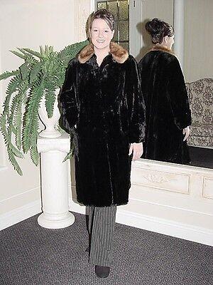 75 Di Pollice Sweep Black Tranciati Muschiato & Mink Coat-mostra Il Titolo Originale