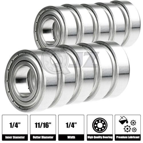 10x 1602-ZZ Ball Bearing 6.35mm x 17.462mm x 7.938mm Double Shield Rubber Seal