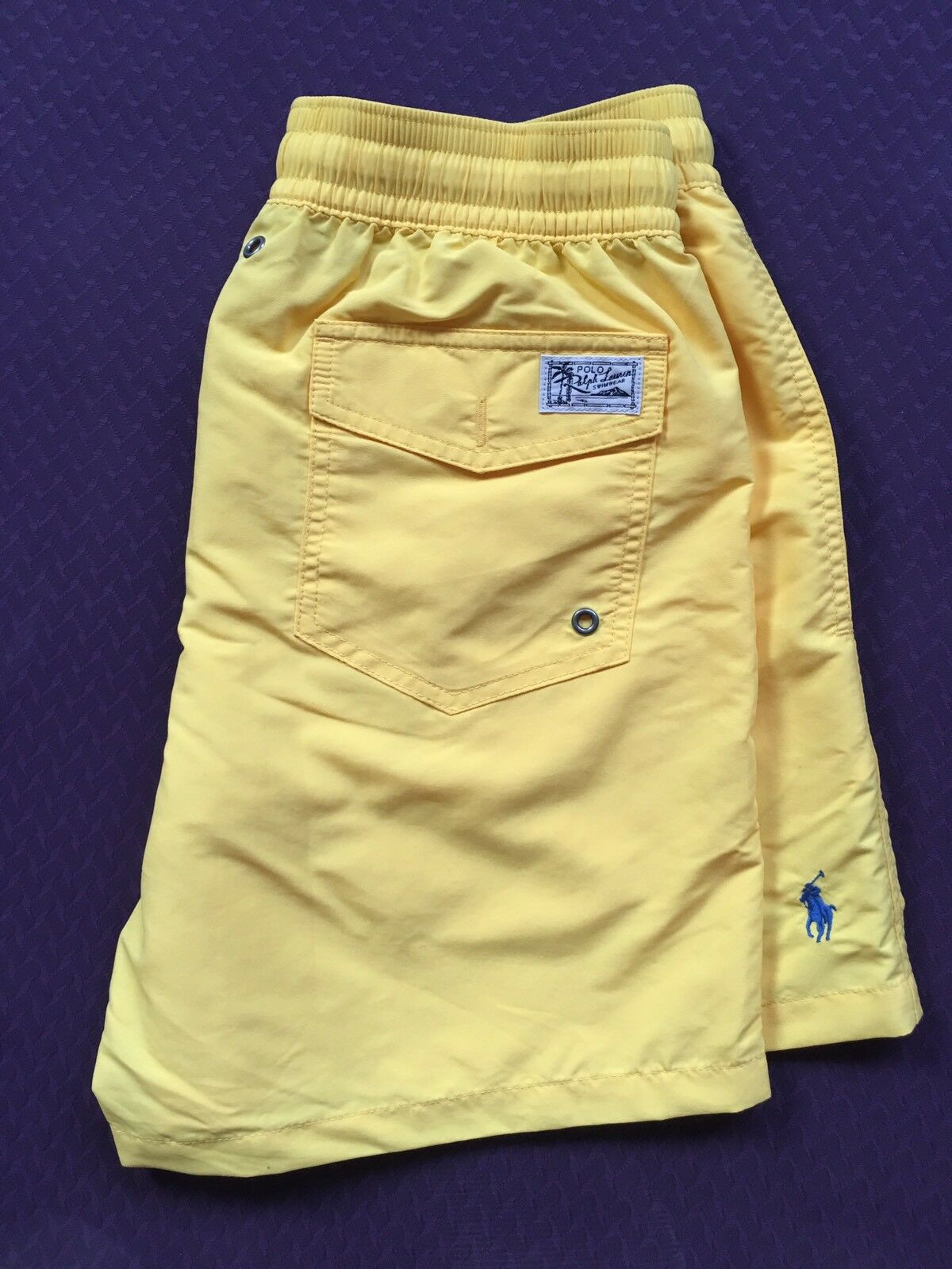 Polo Ralph Lauren Swim Shorts Traveler Trunk Yellow Size S or M