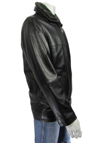 Classic Jacket Men in Black New Napa Rock Biker Long Blazer Bike pelle Fur EfOgwvqw