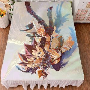 Anime Yu Gi Oh Yugi Muto HD Bed Sheet Blanket Bedding 150*200cm Coverlet