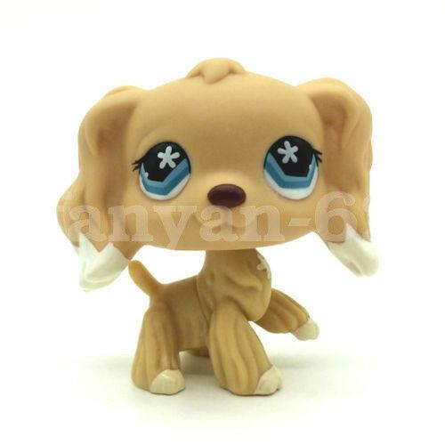 748 Hasbro Rare Littlest Pet Shop Brown Cocker Spaniel Dog Flower Eyes Lps Toys For Sale Online Ebay