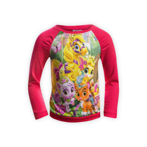 Ragazze Disney Palace Pets Cotone Felpa Casual Bambini Kids T-Shirt Top
