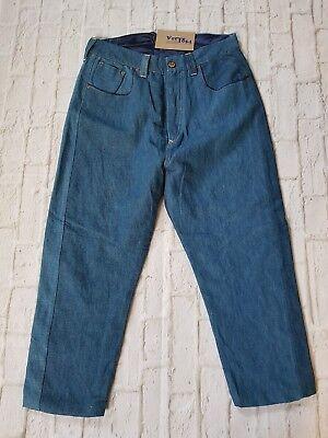 """Levis Red Un-lined Picker Affusolato Caduto Cavallo Cinch Indietro Jeans W 38"""" Ltd Edt-mostra Il Titolo Originale Beneficiale Per Lo Sperma"""