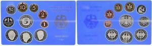 BRD Kurssatz Einzelplatte 1999 A1Pf. bis 5 DM Polierte Platte 55671