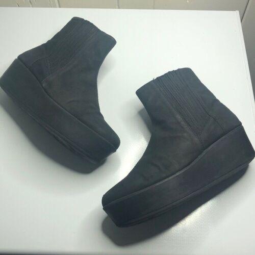 Vagabond Black Platform Suede Leather Boots Women