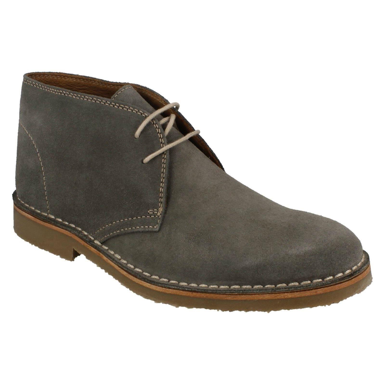 Venta para Hombre Loake Ante gris Con Cordones Zapatos botas al Tobillo Desierto cotidianos KALAHARI