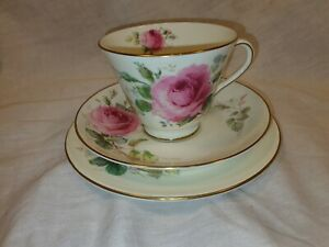 Vintage-Royal-Doulton-June-Trio-Cup-Saucer-and-Side-Plate-In-Great-Condition