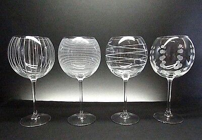 MIKASA CHEERS    SET OF 4    22 OUNCE CRYSTAL BALLOON WINE GOBLETS | eBay