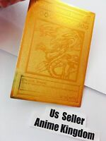 Usa Seller Anime Blue-eyes Ultimate Dragon English Version Golden Metal Card