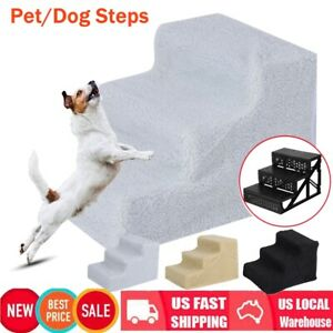 Pet-Puppy-Step-3-Steps-Dog-Cat-Stairs-Ladder-Climb-Ramp-W-Cover-for-Couch-or-Bed