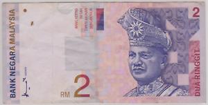 Mazuma *M927 Malaysia 8th $2 AA0251578 GVF