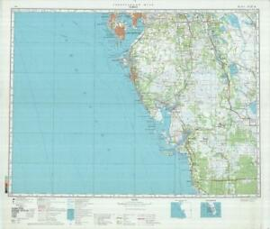 Tampa Topographic Map.Russian Soviet Military Topographic Maps Tampa Usa Florida 1