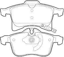 Vauxhall Astra MkV With ABS Zafira MK2 Brake Pads Meriva