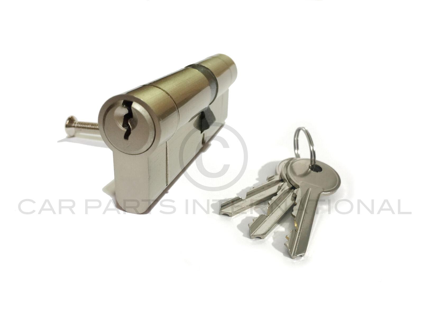 Alta Seguridad Euro Cerradura de puerta acabado níquel 50 50 1-10 cerraduras con llave por igual que empareja