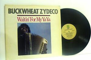 BUCKWHEAT-ZYDECO-waitin-for-my-ya-ya-1st-uk-press-LP-EX-VG-REU-1005-vinyl